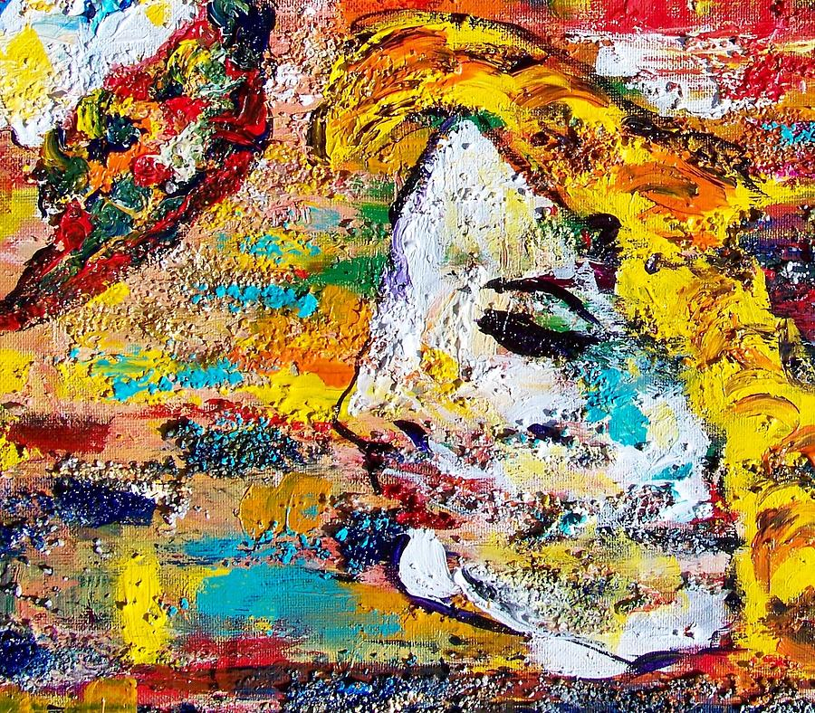 Acrylics Painting - Arlequin by Azul Fam