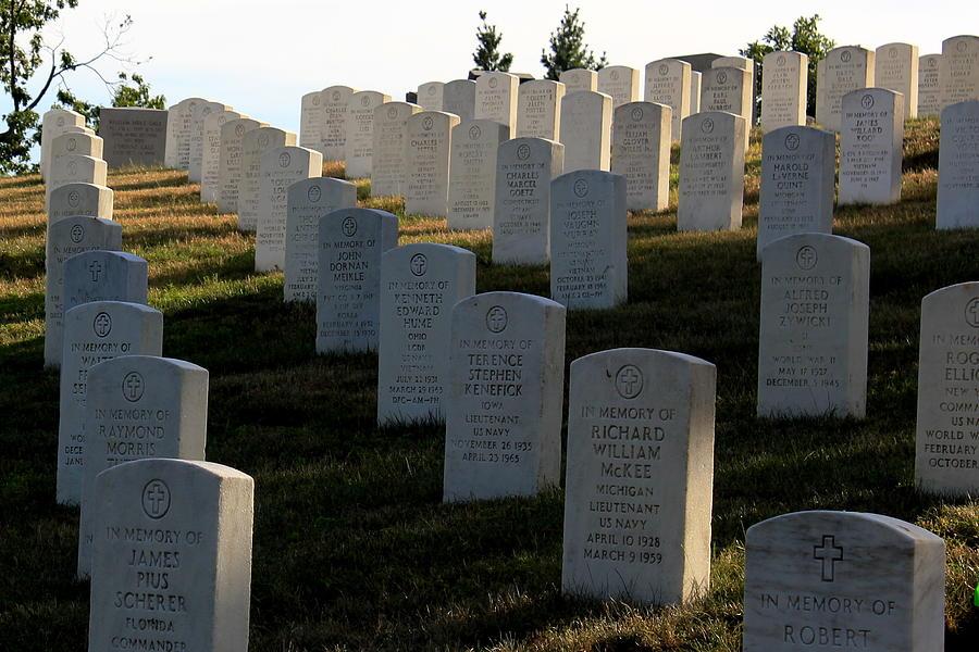 Usa Photograph - Arlington Cemetery by DustyFootPhotography