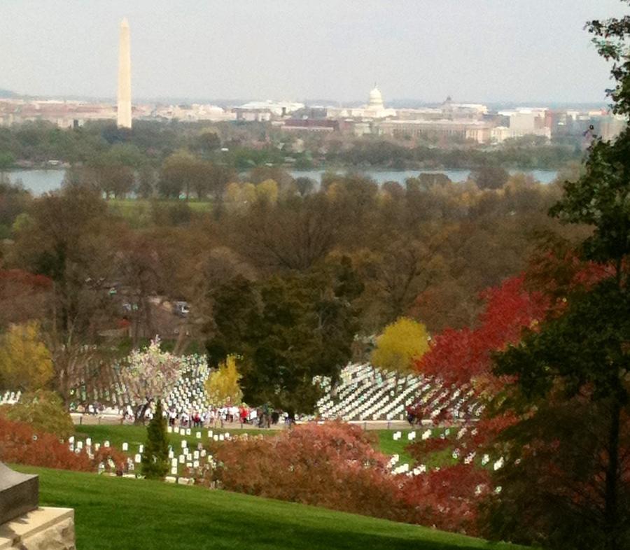 Arlington Cemetery Photograph - Arlington Cemetery View of Washington DC by Lois Ivancin Tavaf