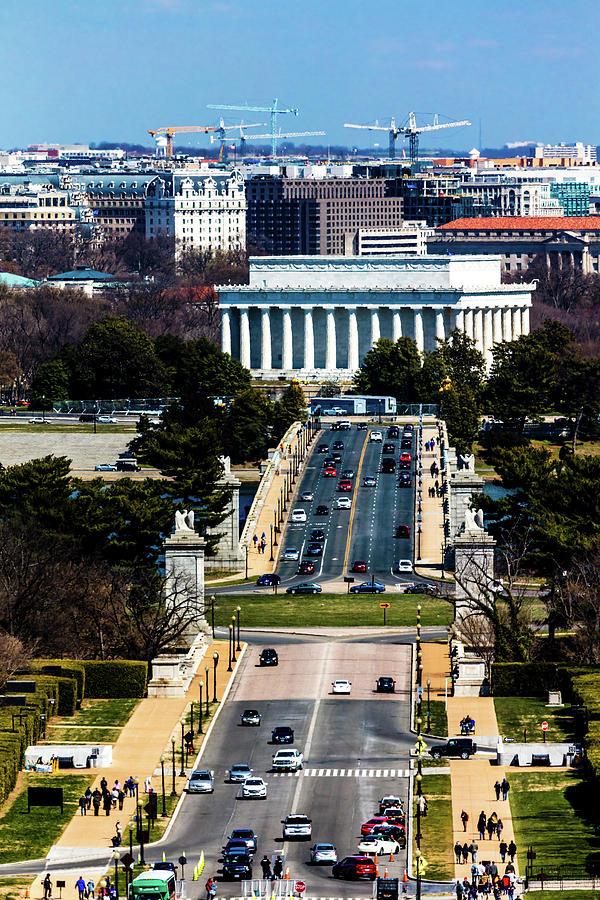Vertical Photograph - Arlington Memorial Bridge Leads by Panoramic Images