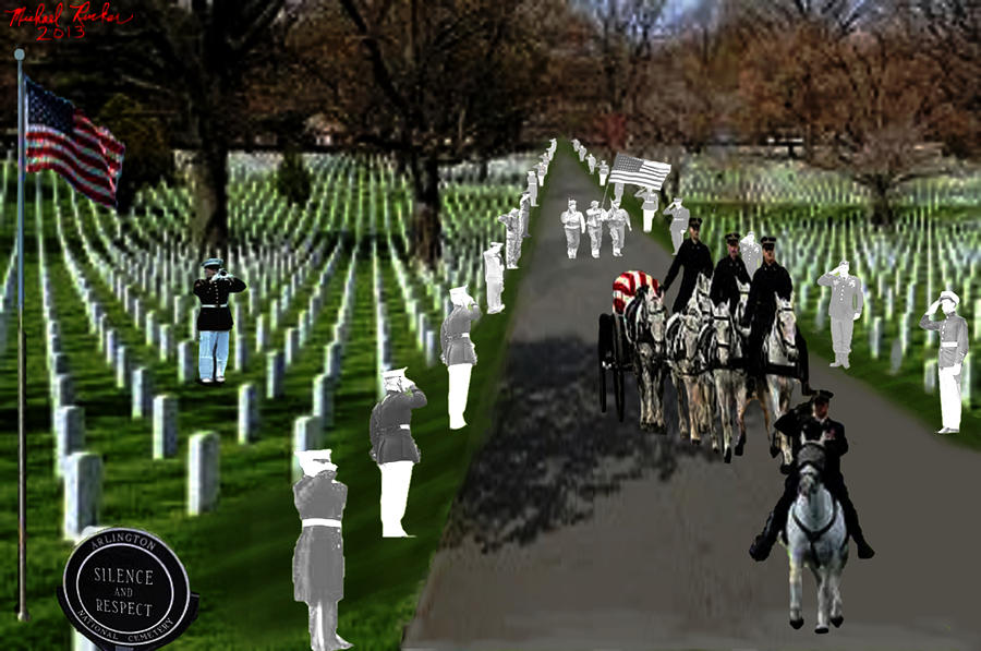 Arlington Digital Art - Arlington National Cemetery by Michael Rucker
