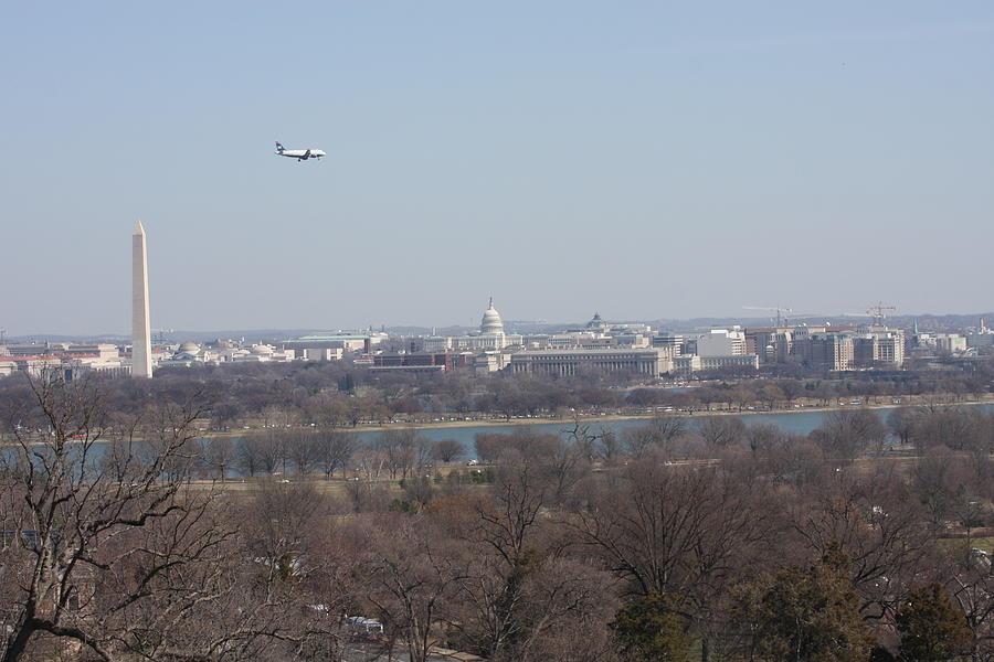 Arlington Photograph - Arlington National Cemetery - View From Arlington House - 12122 by DC Photographer