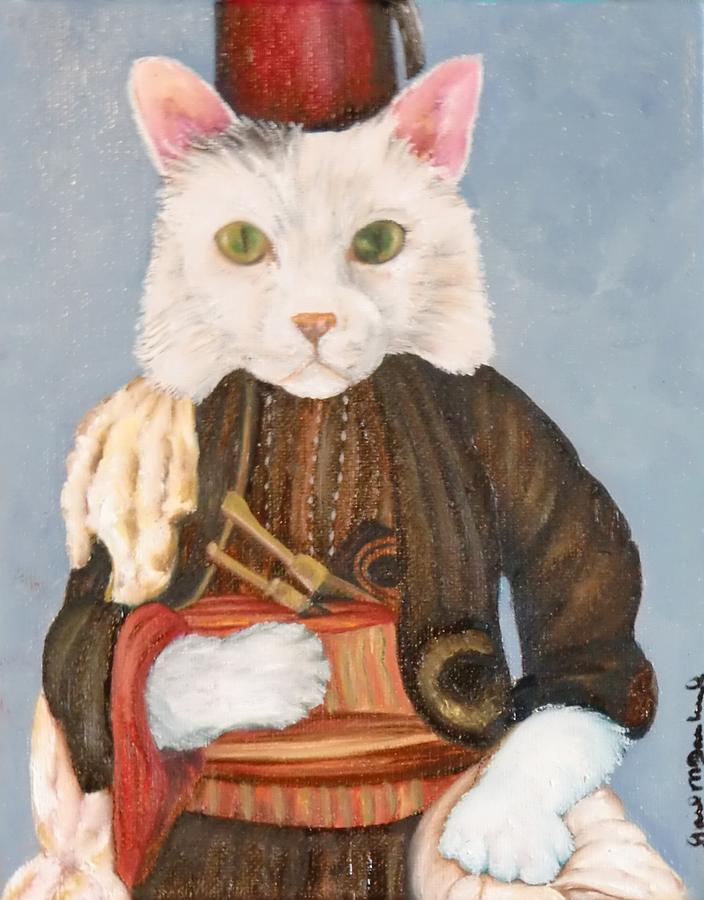 Cat Painting - Arlo by Gail McFarland