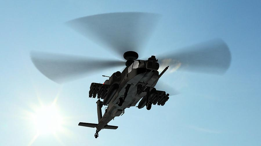 Armed Longbow Apache Helicopter In Photograph by Bestgreenscreen