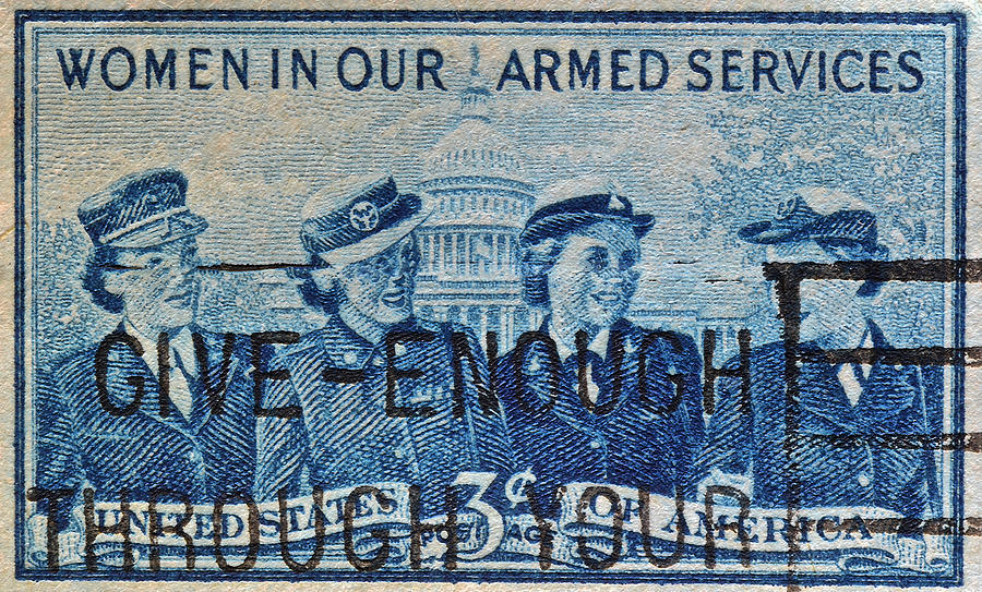 Armed Services Photograph - Armed Services Women Stamp by Bill Owen