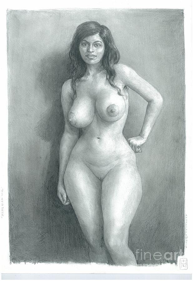 Curvy girl nude drawing 14