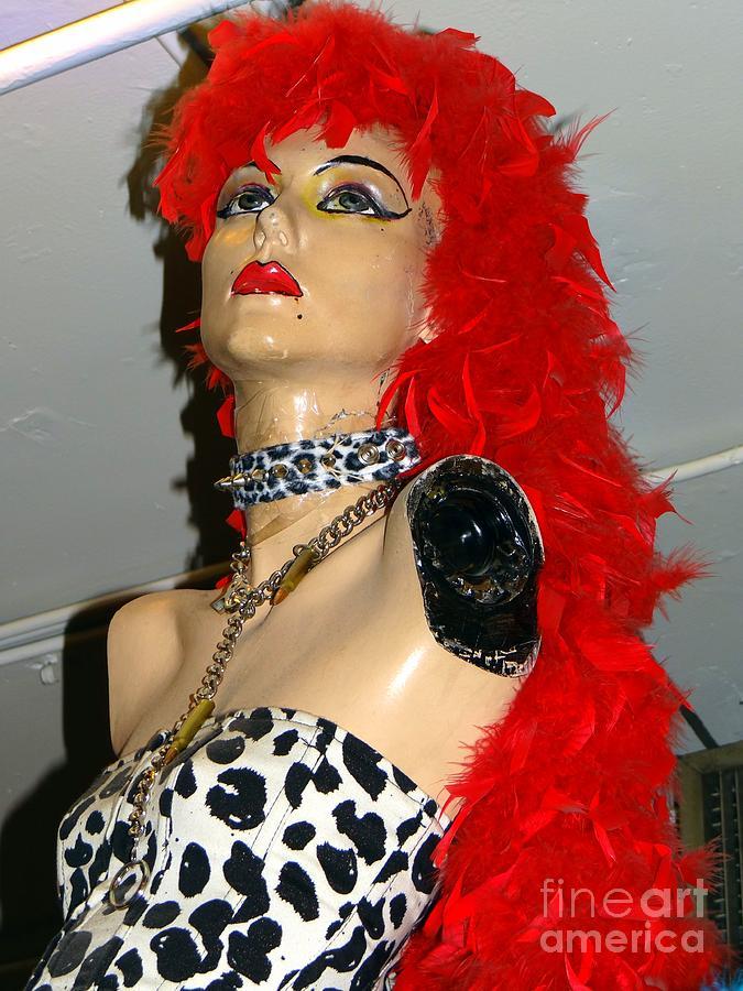 Mannequins Photograph - Armless Redhead by Ed Weidman