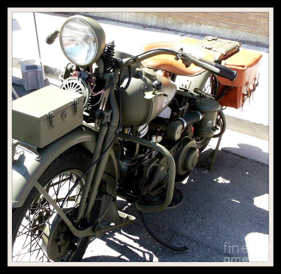 Army Green Military Motorcycle Photograph By Gail Matthews