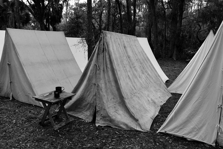 Army Tents Circa 1800s & Army Tents Circa 1800s Photograph by David Lee Thompson
