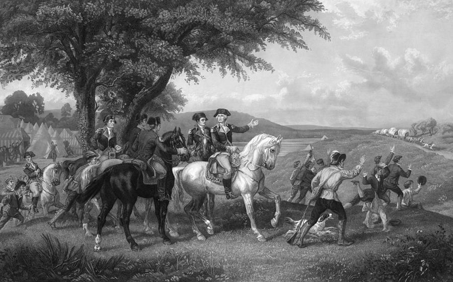 1780s Painting - Army Wagon Train by Granger