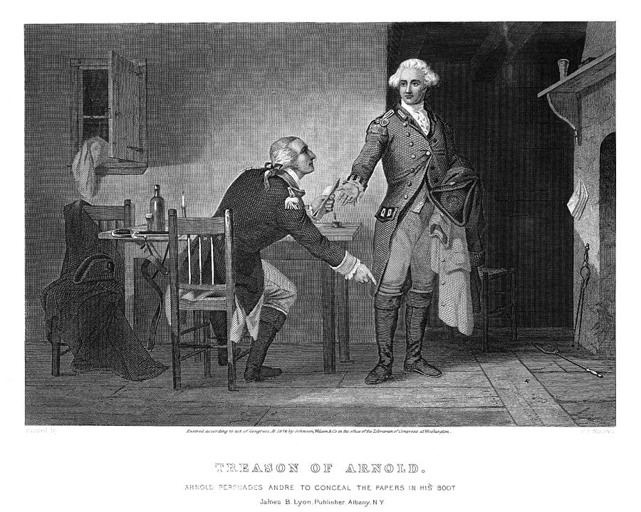 1780 Photograph - Arnold & Andre, 1780 by Granger