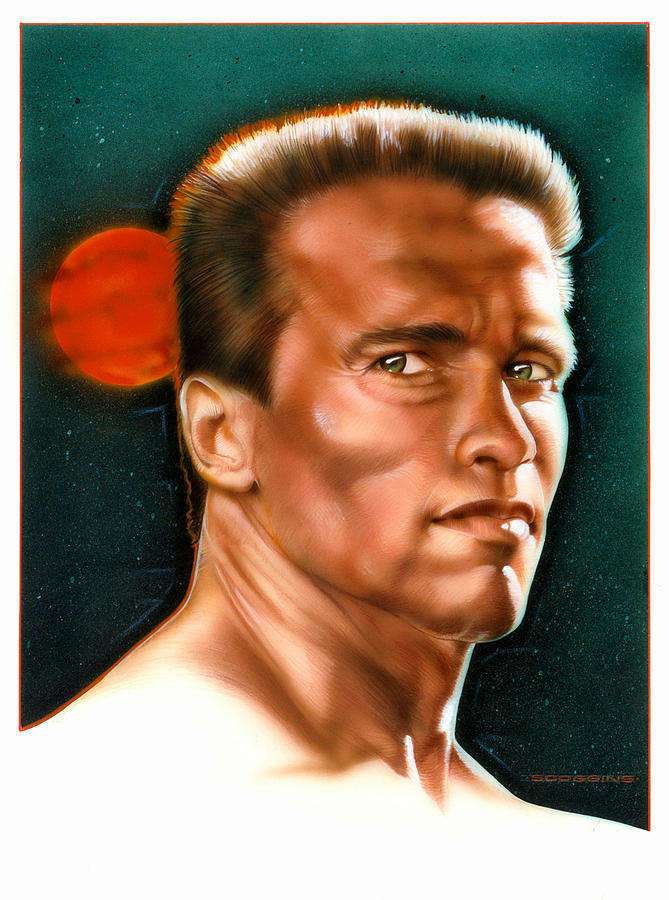 Arnold Painting - Arnold by Timothy Scoggins