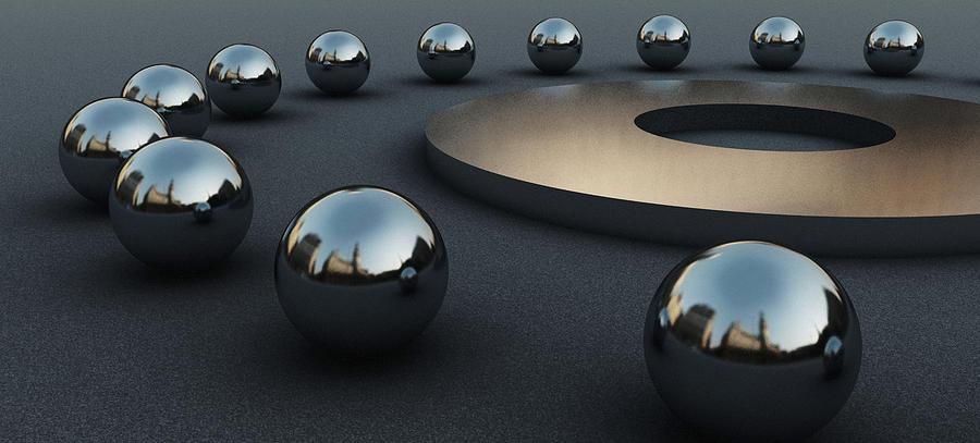 Circles Digital Art - Around Circles by Richard Rizzo