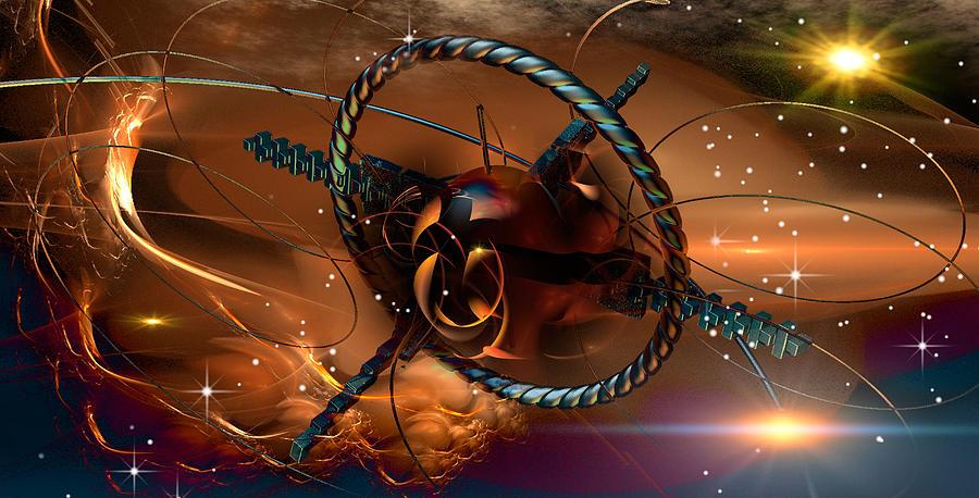 Space Digital Art - Around by Phil Sadler