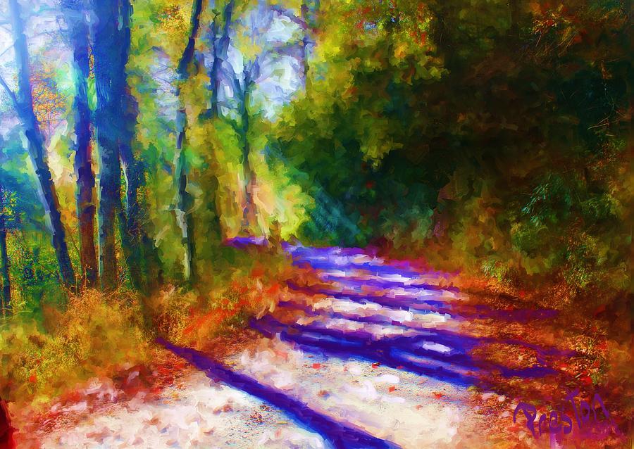 Landscape Impressionism Painting - Around the Bend by Preston Sandlin