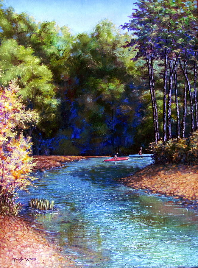 Landscape Painting - Around The Bend by Tanja Ware