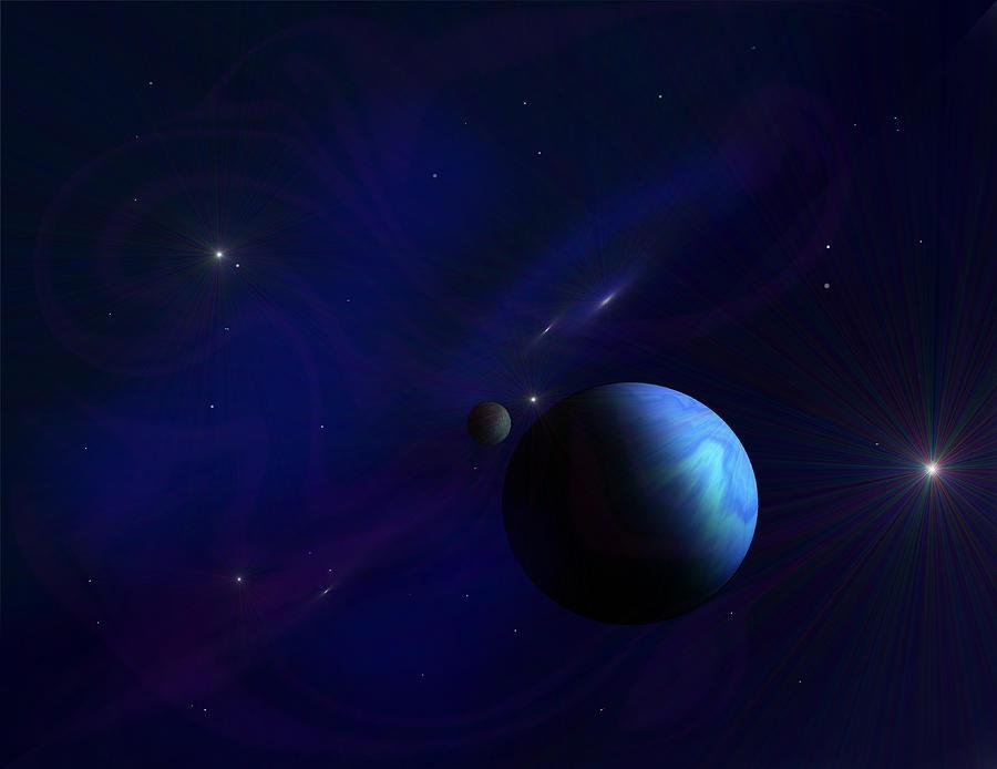Stars Digital Art - Around The Cosmos by Ricky Haug