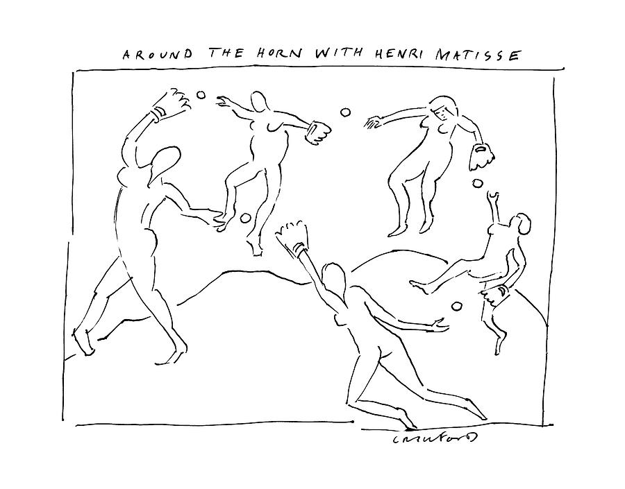 Around The Horn With Matisse: Matisses Dancers Drawing by Michael Crawford
