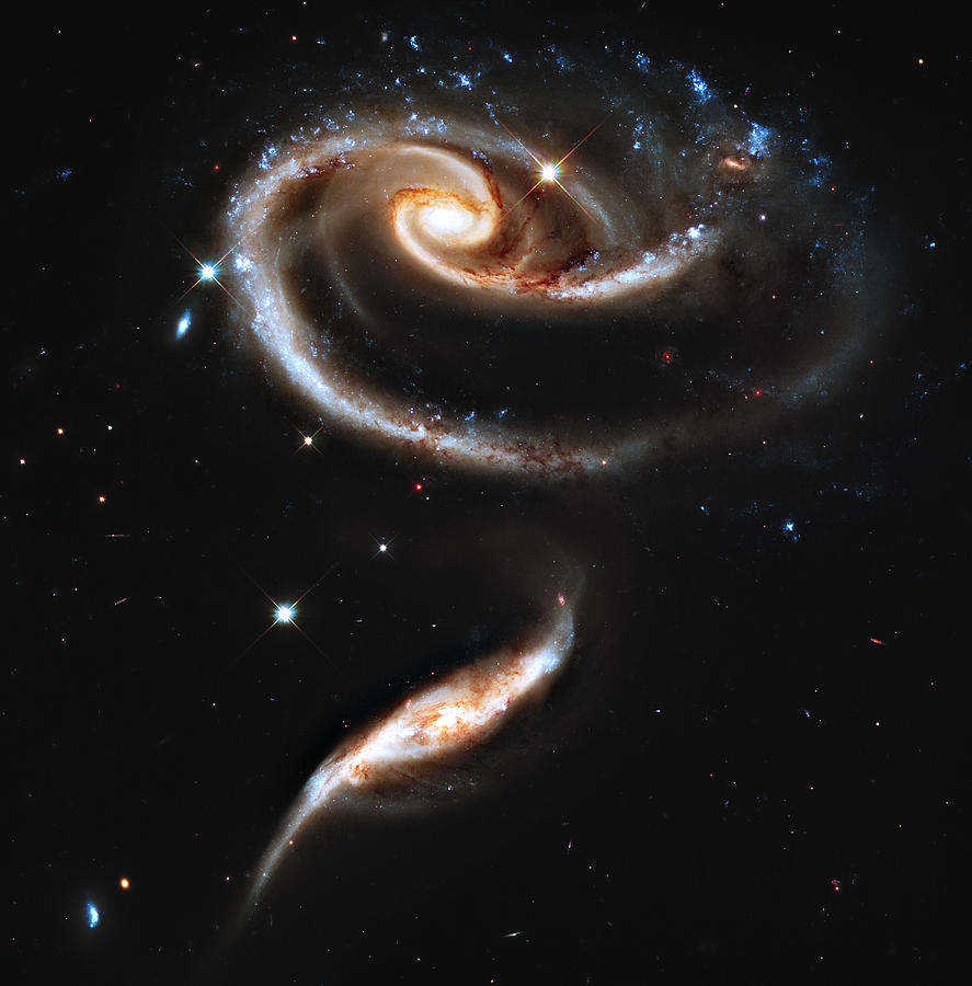 Arp Photograph - ARP 273 Rose Galaxies by Ricky Barnard