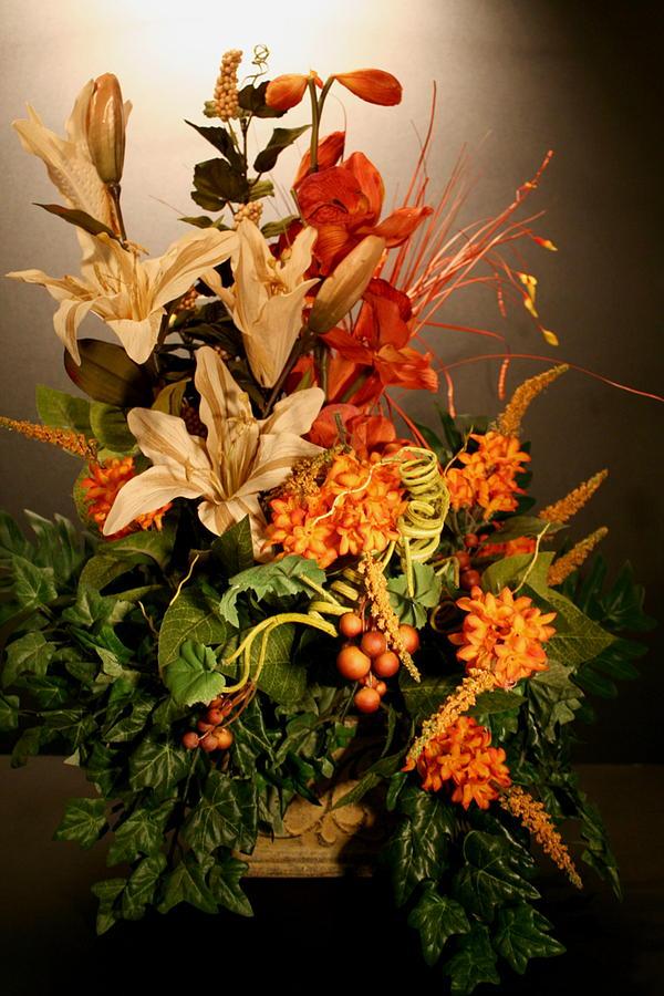 Arrangement Of Flowers Photograph - Arrangement Of Flowers by Diane Merkle