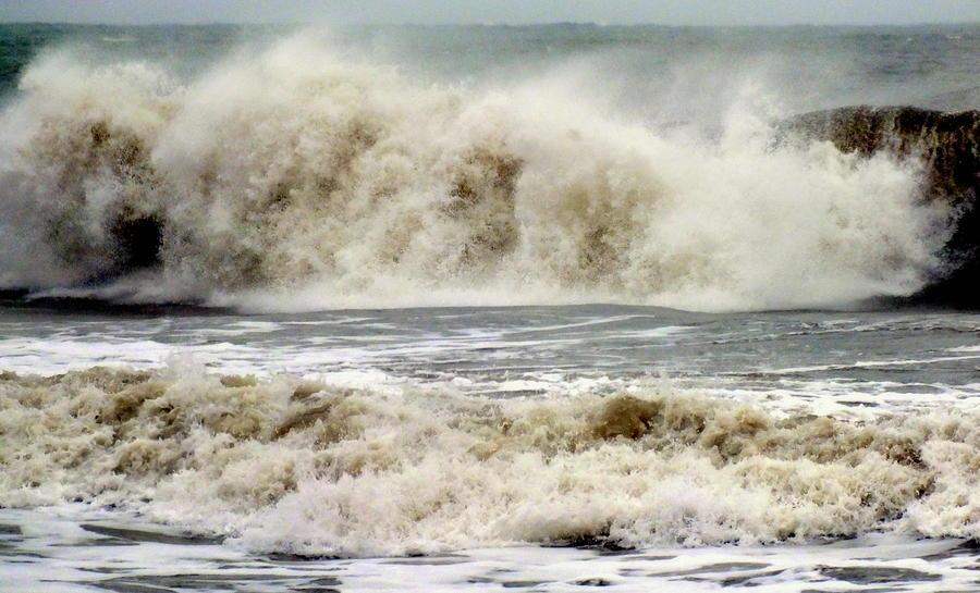 Hurricane Sandy Photograph - Arrival Of Sandy by Karen Wiles