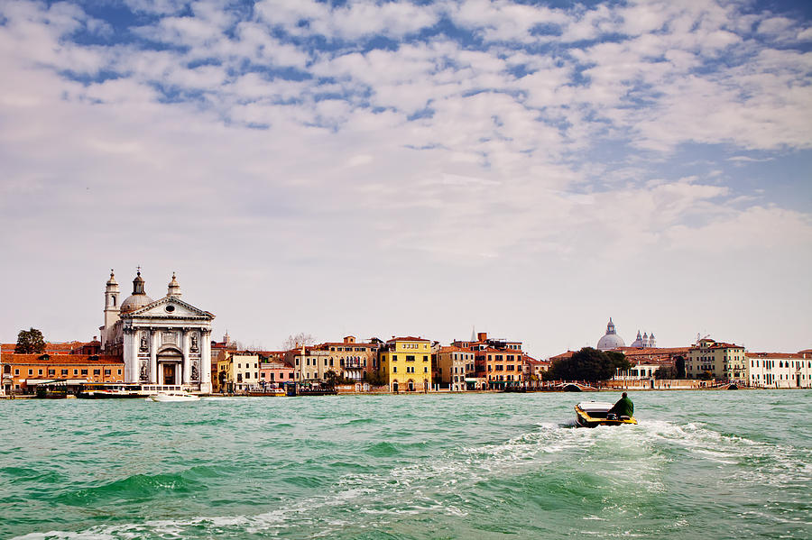 Venice Photograph - Arriving In Venice By Boat by Susan Schmitz