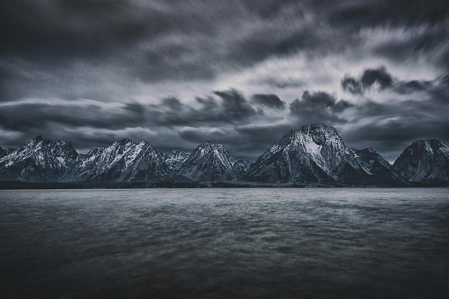 Tetons Photograph - Arriving Storm by Robert Fawcett