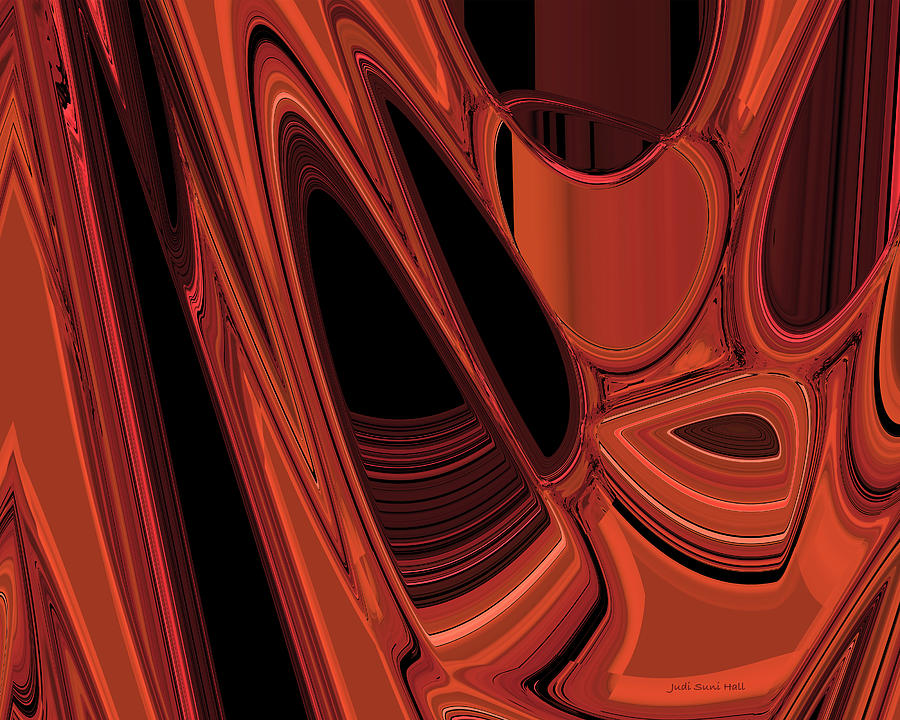Abstract Digital Art - Arroyo 1 by Judi Suni Hall