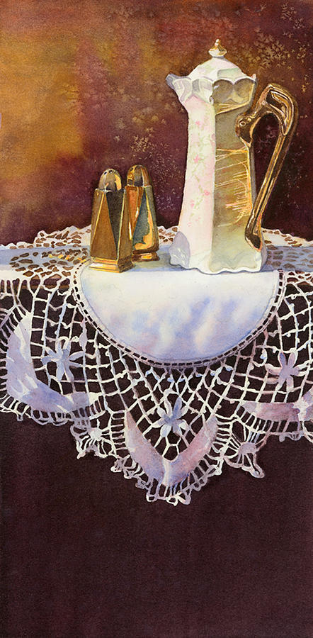 Delicate Lace Painting - Arsenic And Old Lace by Kristina Storey