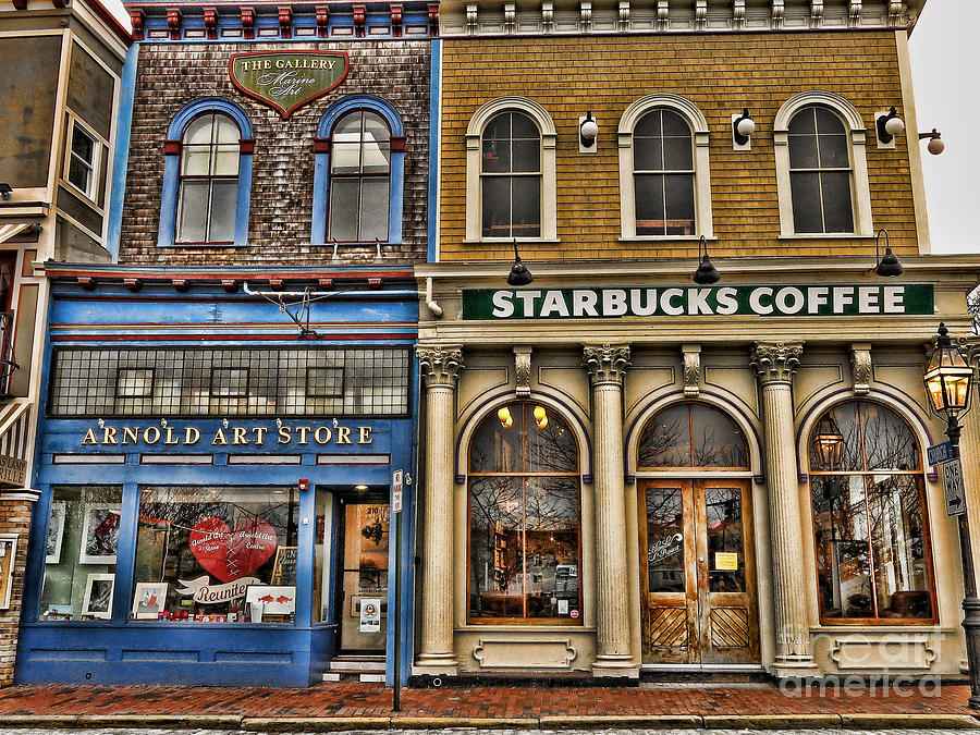 Newport Photograph - Art And Java by Nancy De Flon