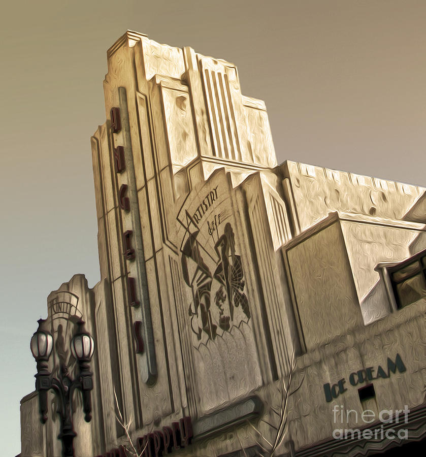 Pasadena Painting - Art Deco Building by Gregory Dyer