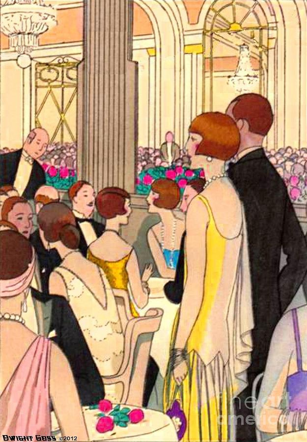 Art Deco Dining Painting By Dwight Goss