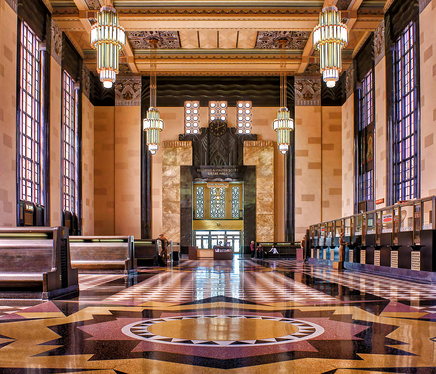 Abstract Photograph - Art Deco Great Hall #1 by Nikolyn McDonald