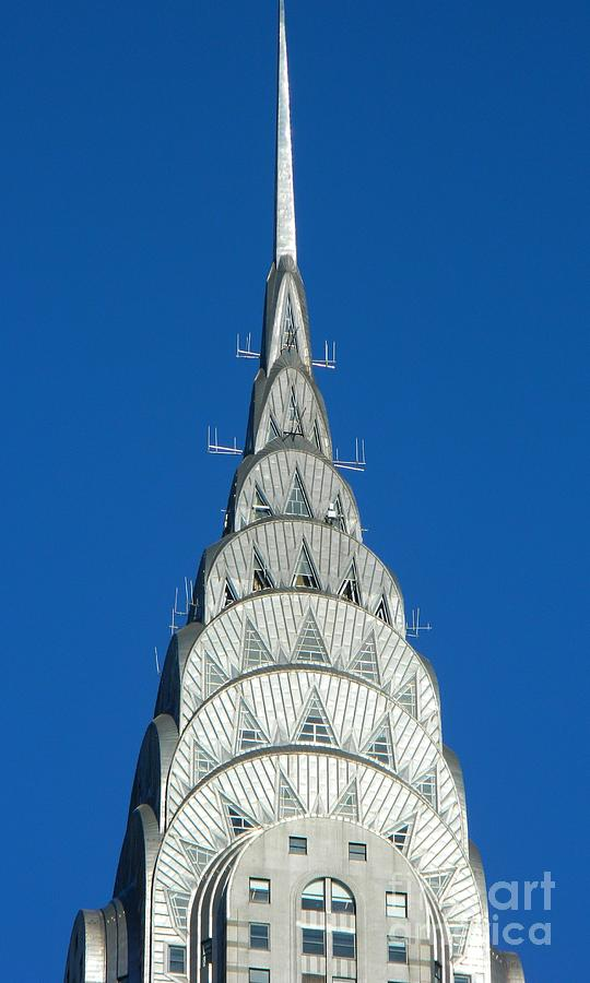 Chrysler Building Photograph - Art Deco Skyscraper - The Chrysler Building by Emmy Vickers