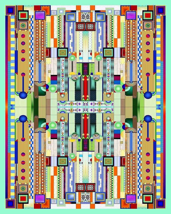 Art Deco Stained Glass Digital Art - Art Deco Stained Glass 2 by Ellen Henneke