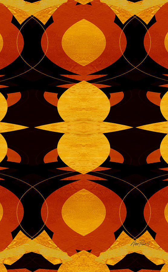 Abstract Digital Art - Art Deco Two - Abstract Art by Ann Powell