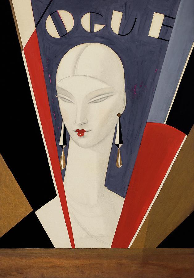 Art Deco Vogue Cover Of A Womans Head Digital Art by Eduardo Garcia Benito