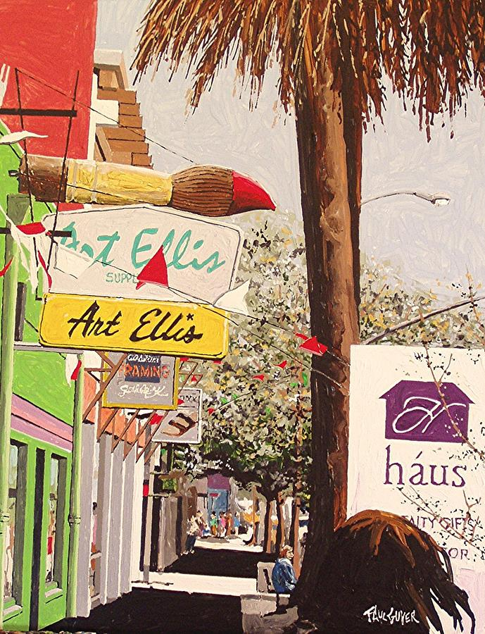Sacramento Painting - Art Ellis In Midtown by Paul Guyer