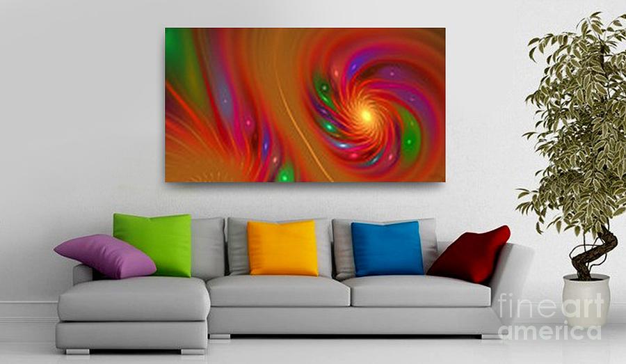 Interior Design Digital Art - Candy Nebula - Art Ideas For Interior Design  by Hanza Turgul