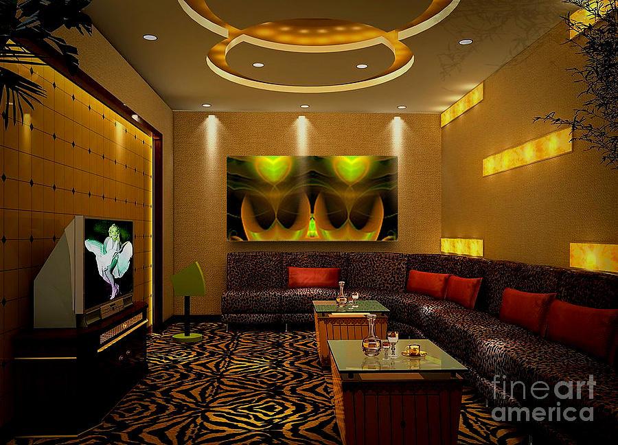 Interior Design Digital Art -  Green Love - Art Ideas For Interior Design  by Hanza Turgul