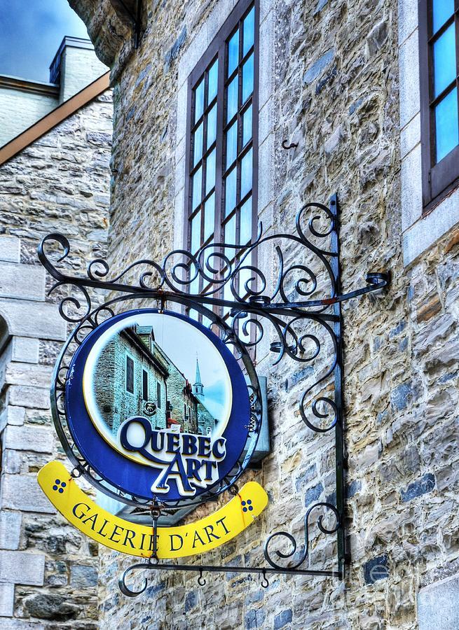 Quebec City Photograph - Art In Old Quebec by Mel Steinhauer