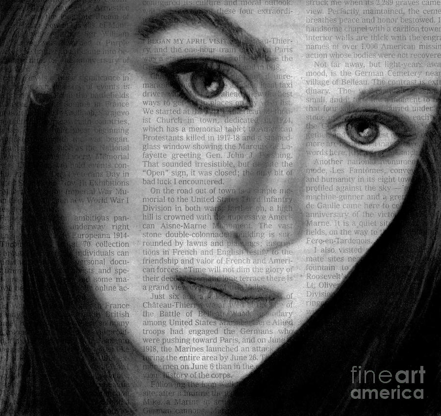 Art In The News 34 Meryl Streep Drawing By Michael Cross
