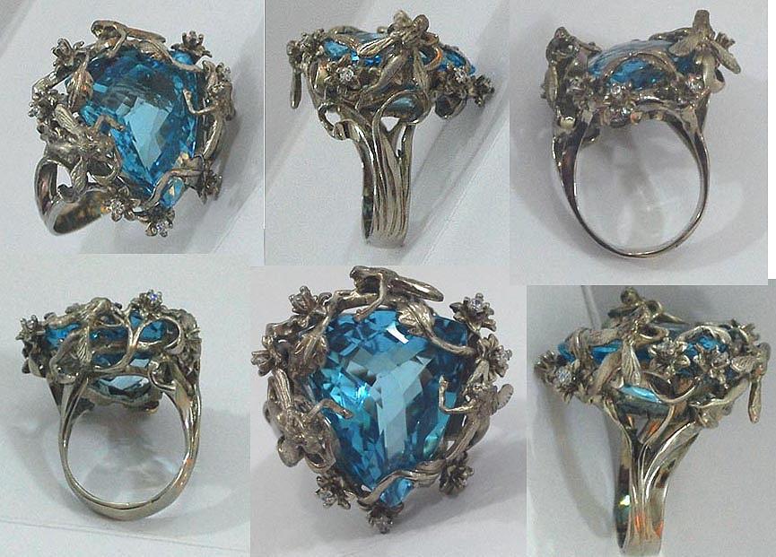 Fairy Ring Sculpture - Art Nouveau Fairy Fantasy Ring by Michelle  Robison