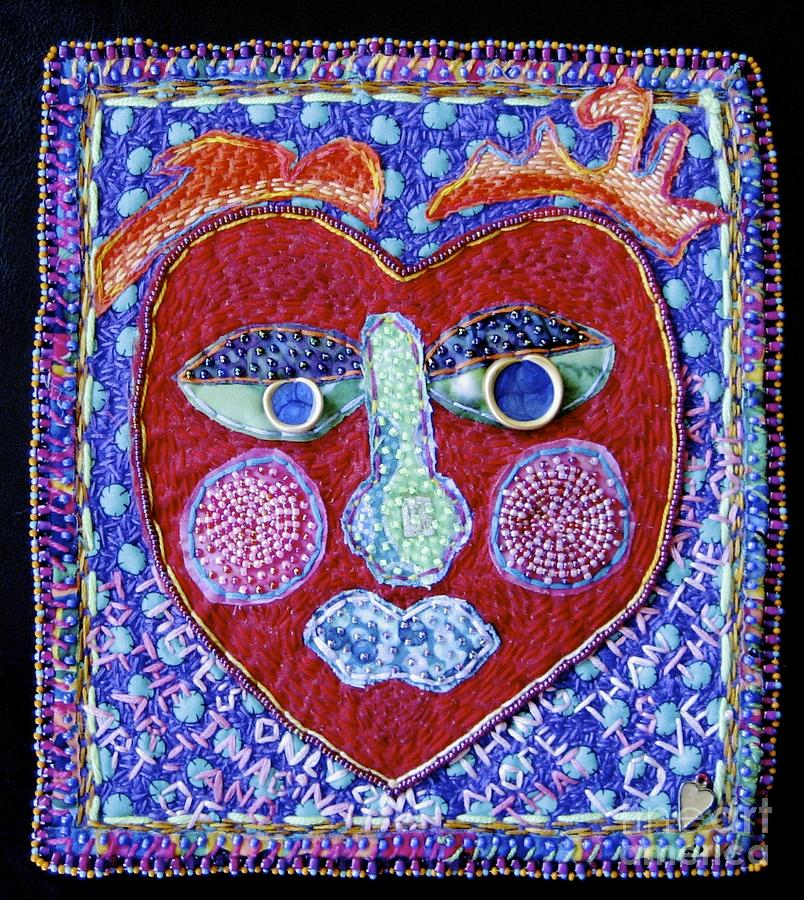 Fiber Tapestry - Textile - Art Of Love by Susan Sorrell