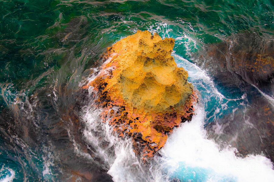 Shoreline Photograph - Art Of Rocks At Waianae Coast by Lisa Cortez
