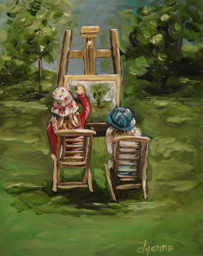 Figurative Painting - Art Of Teaching Oil Painting by Dyanne Parker