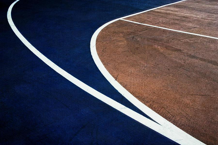 Art On The Basketball Court  11 Photograph