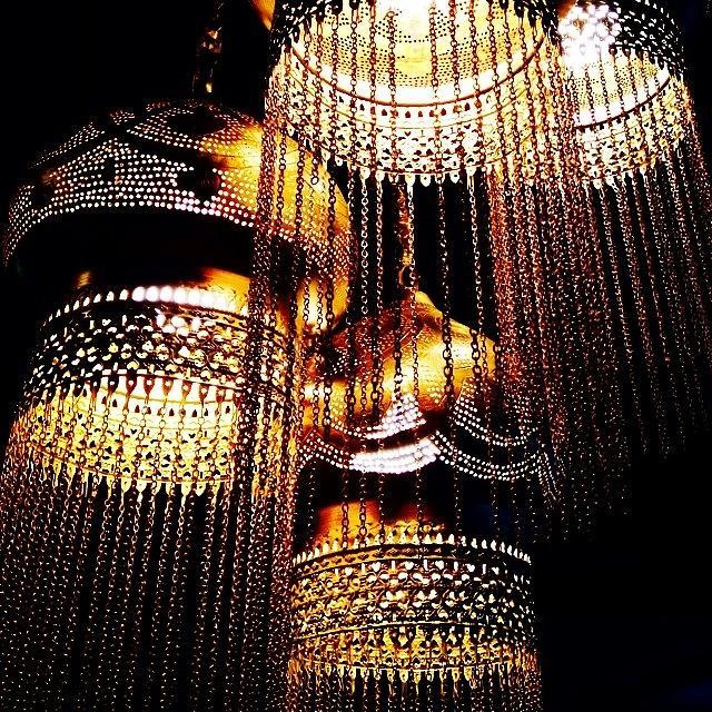Lanterns Photograph - Hanging Lanterns by Heidi Hermes