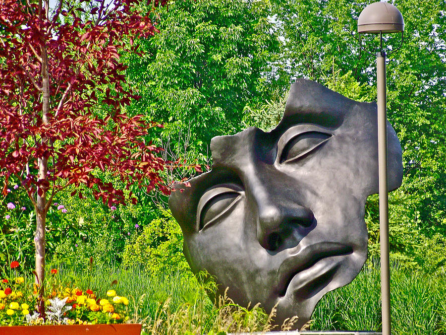 Michigan Photograph   Art Prize 2010 Face Sculpture In Meijer Gardens And  Sculpture Park In Grand