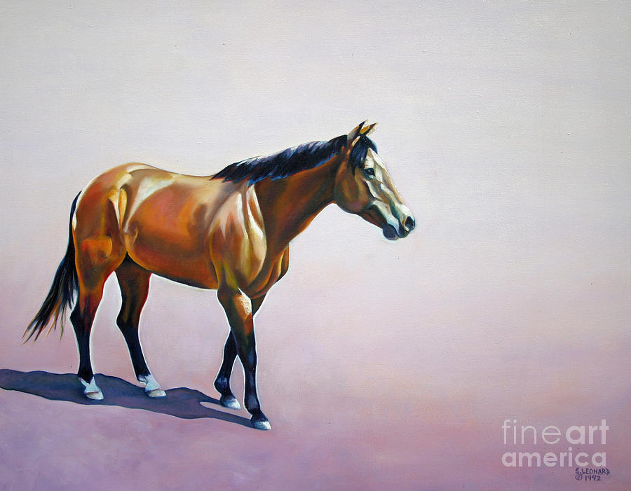 Horse Painting - Art  by Suzanne Leonard